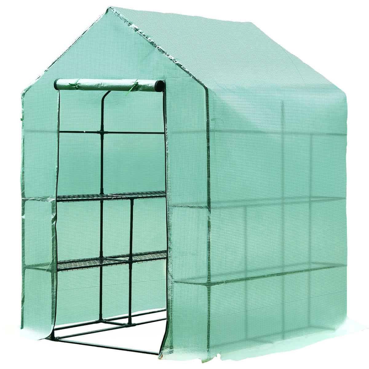 Outsunny 1.4 x 1.4m Greenhouse Grow Tent with Steel Frame