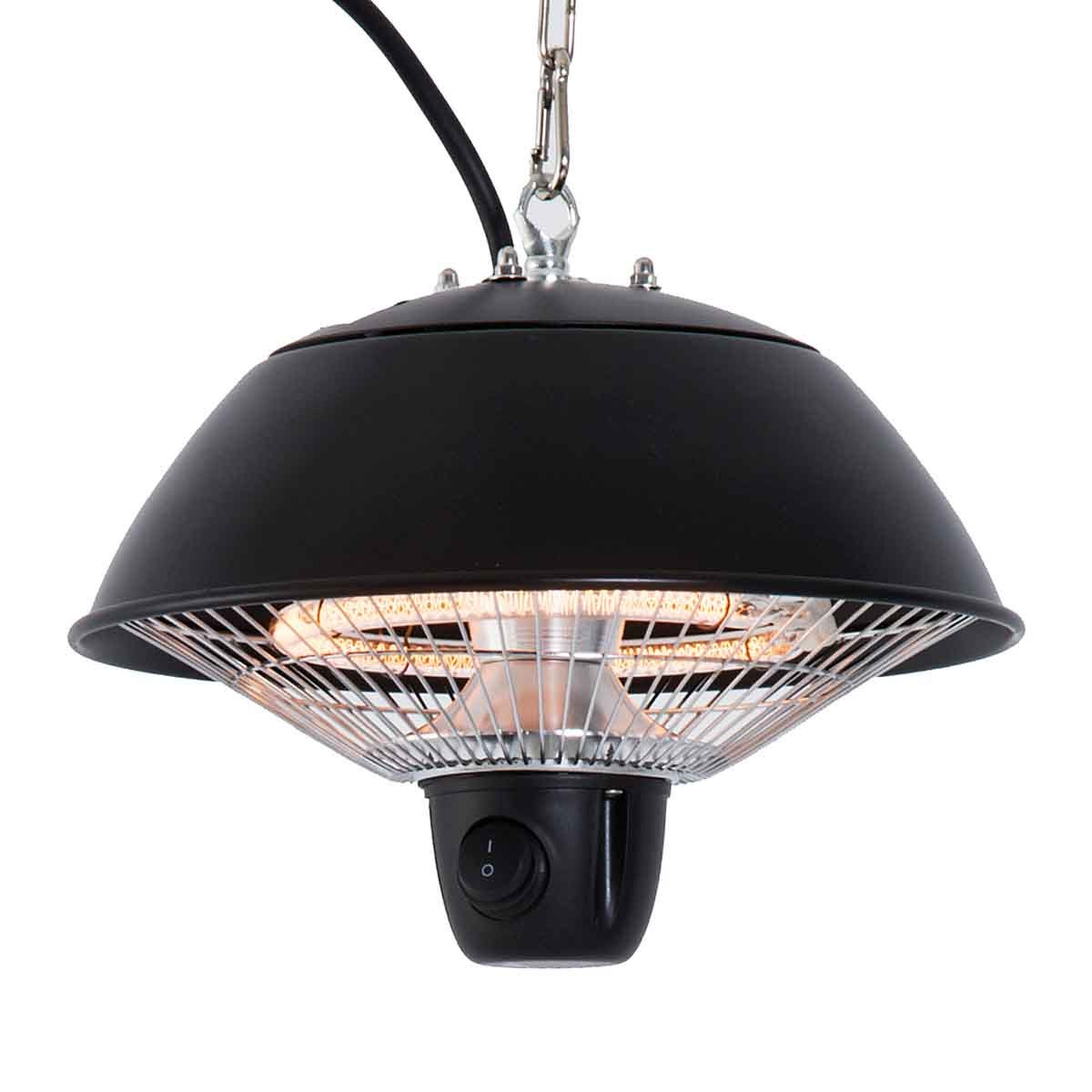 Outsunny 1500w Hanging Patio Heater - Black