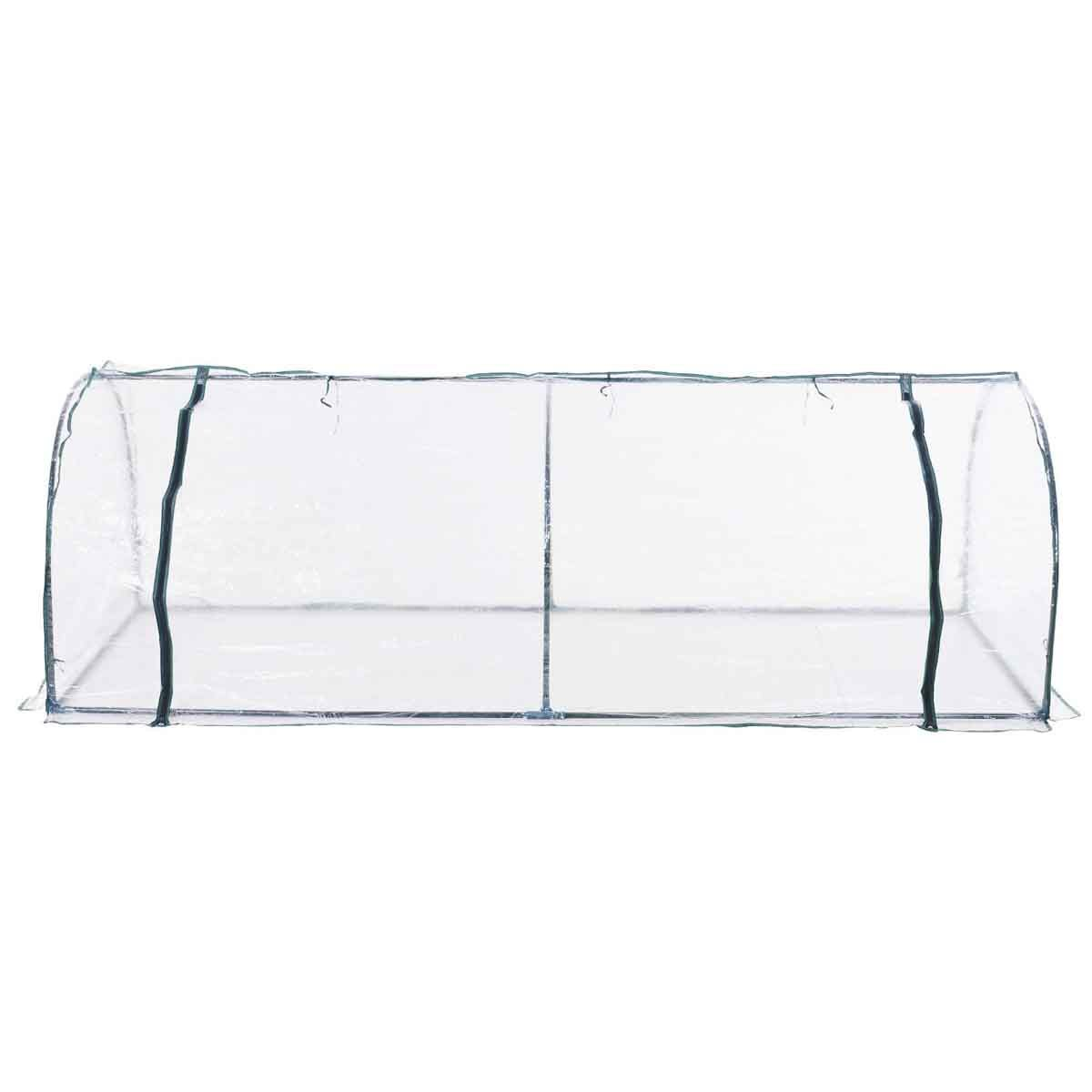 Outsunny PVC 1 x 2.5m Tunnel Greenhouse with Steel Frame