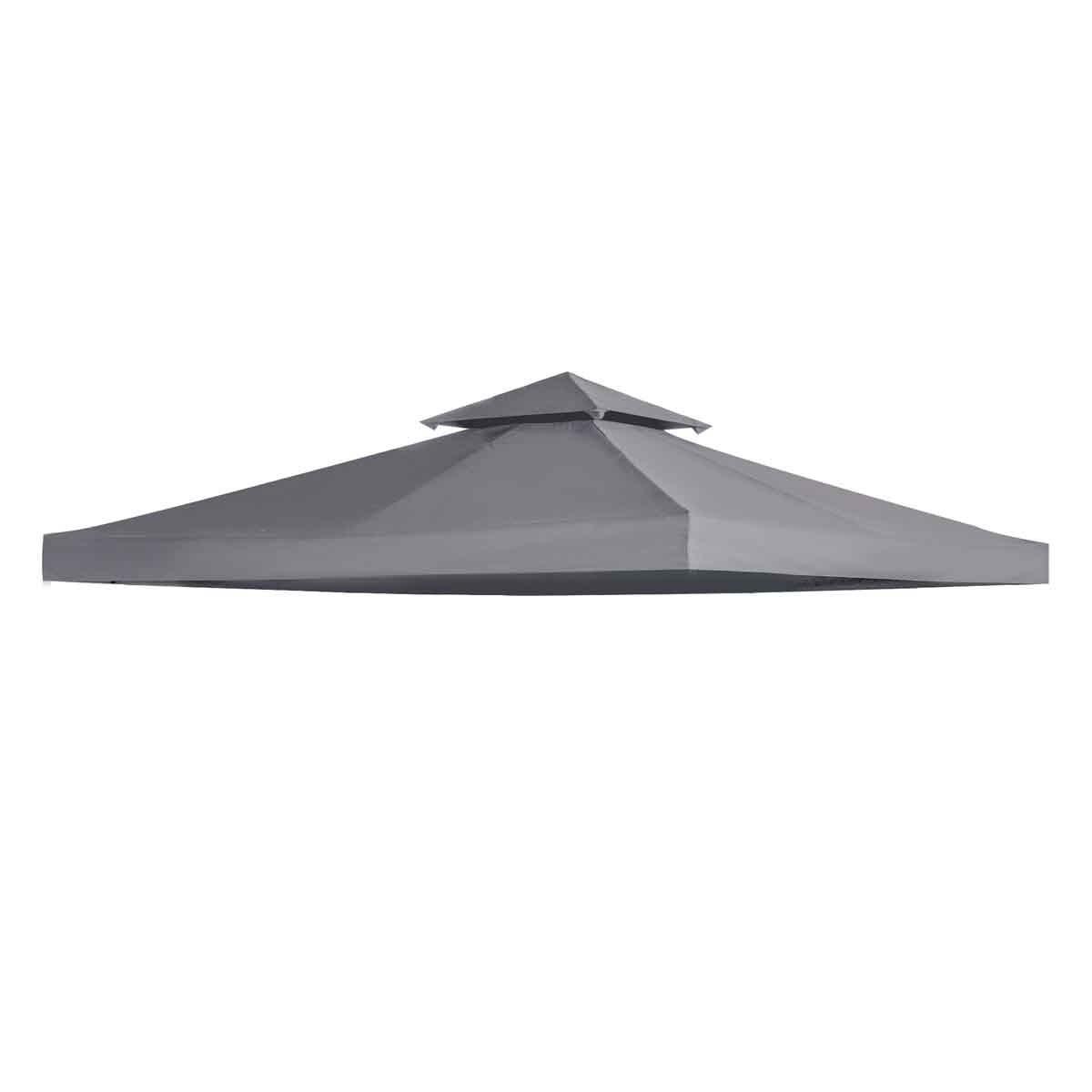 Outsunny 3x3m Replacement Gazebo Canopy - Grey