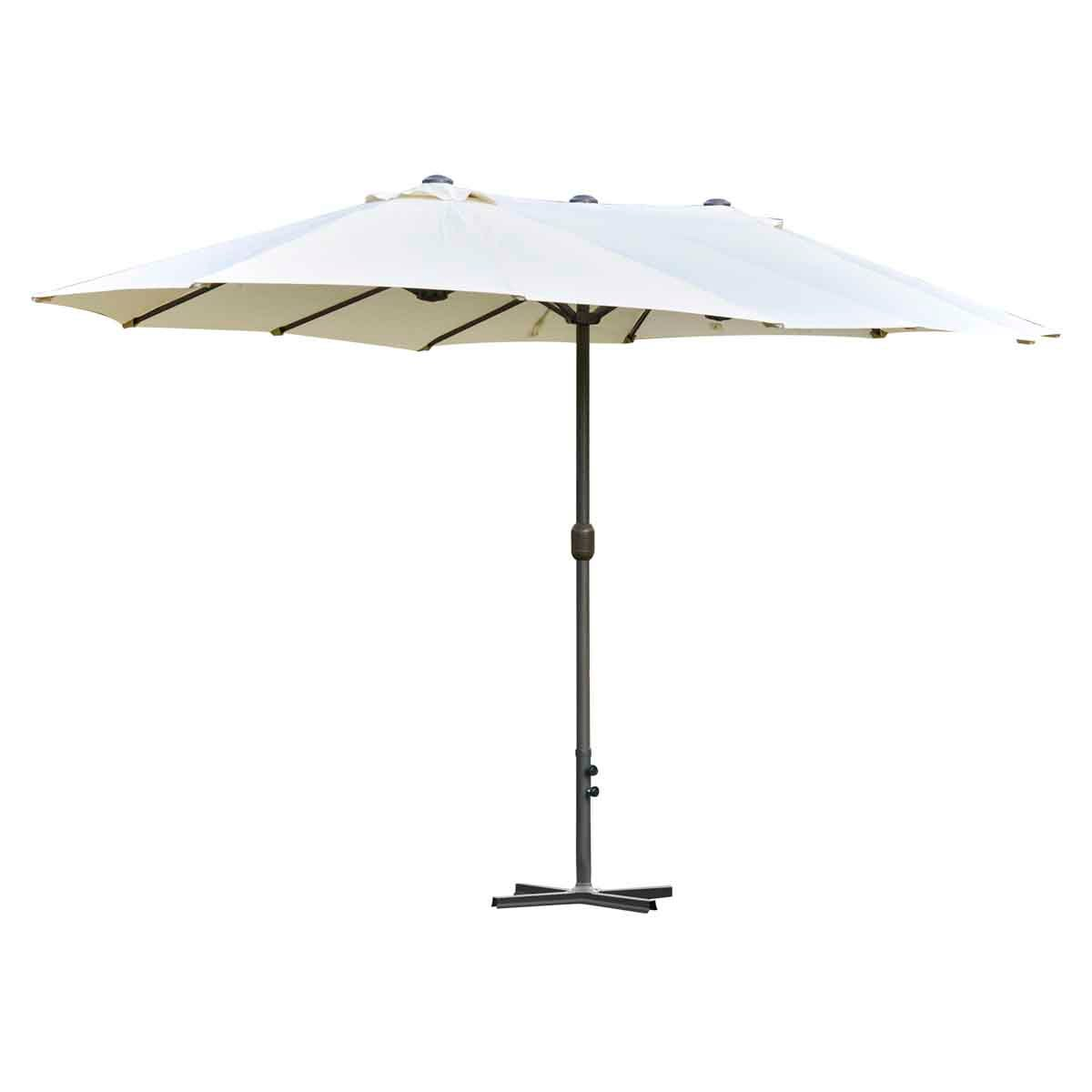 Outsunny 4.6m Double Canopy Parasol (base not included) - Cream White
