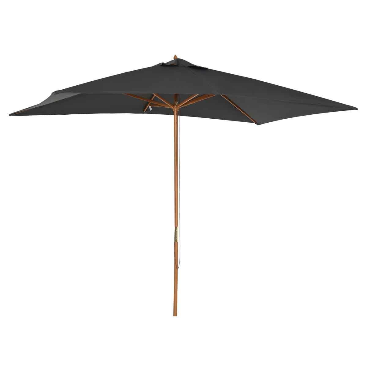 Outsunny Wooden Rectangular Parasol - Grey