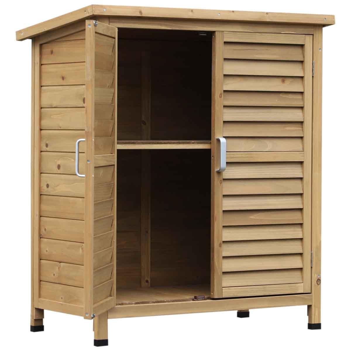 Outsunny Wooden Garden Storage Unit