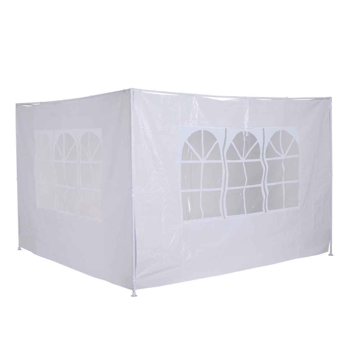 Outsunny 3m Gazebo 2pc Replacement Side Wall Set - White