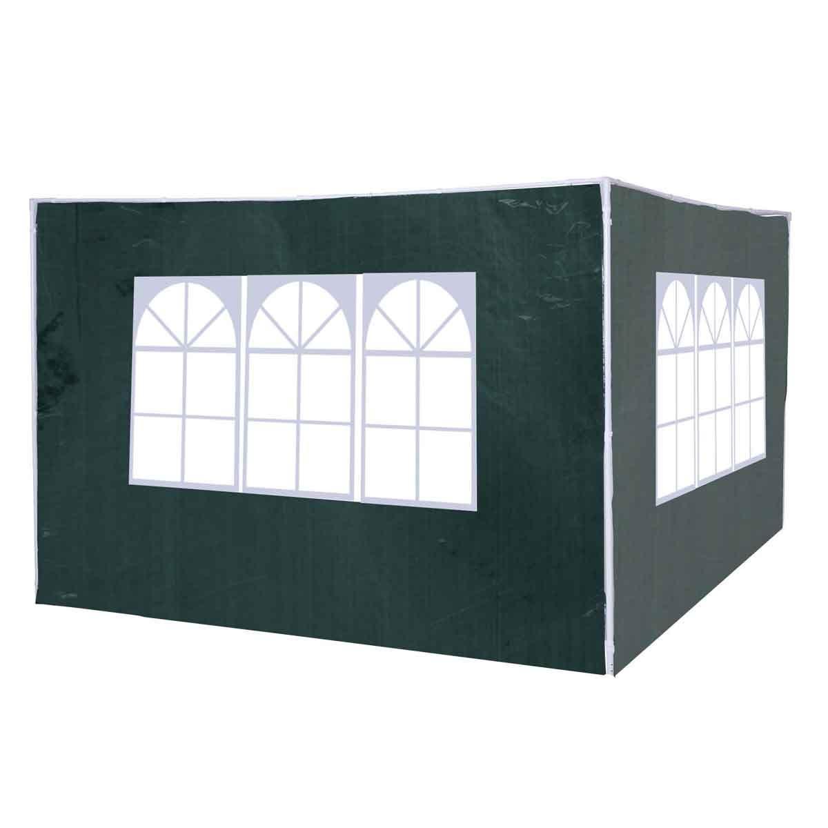 Outsunny 3m Gazebo 2pc Replacement Side Wall Set - Green