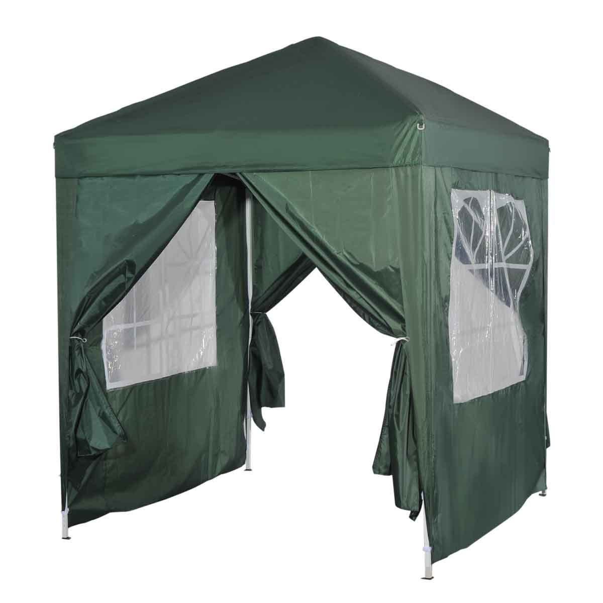 Outsunny 2 x 2m Pop Up Gazebo with Sides - Green