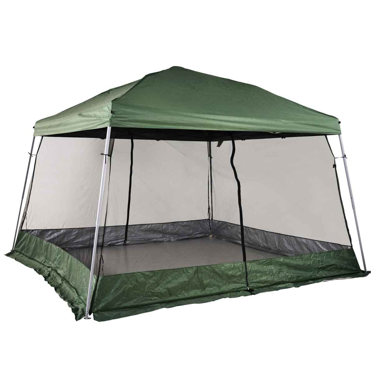 Outsunny 3.6 x 3.6 Pop Up Gazebo with Mesh Walls - Green