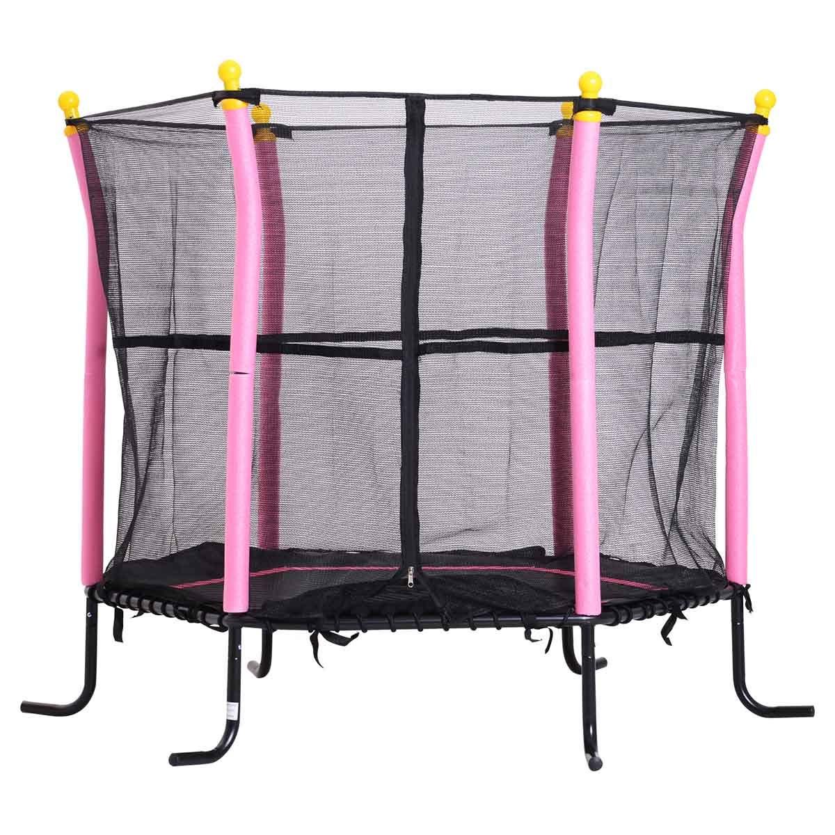 Jouet Childrens Mini Trampoline with Enclosure Net