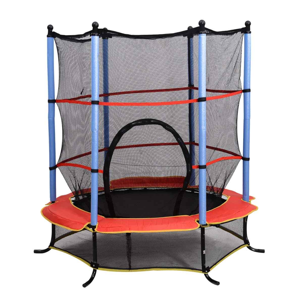 Jouet Childrens 4.5ft Trampoline with Enclosure Net