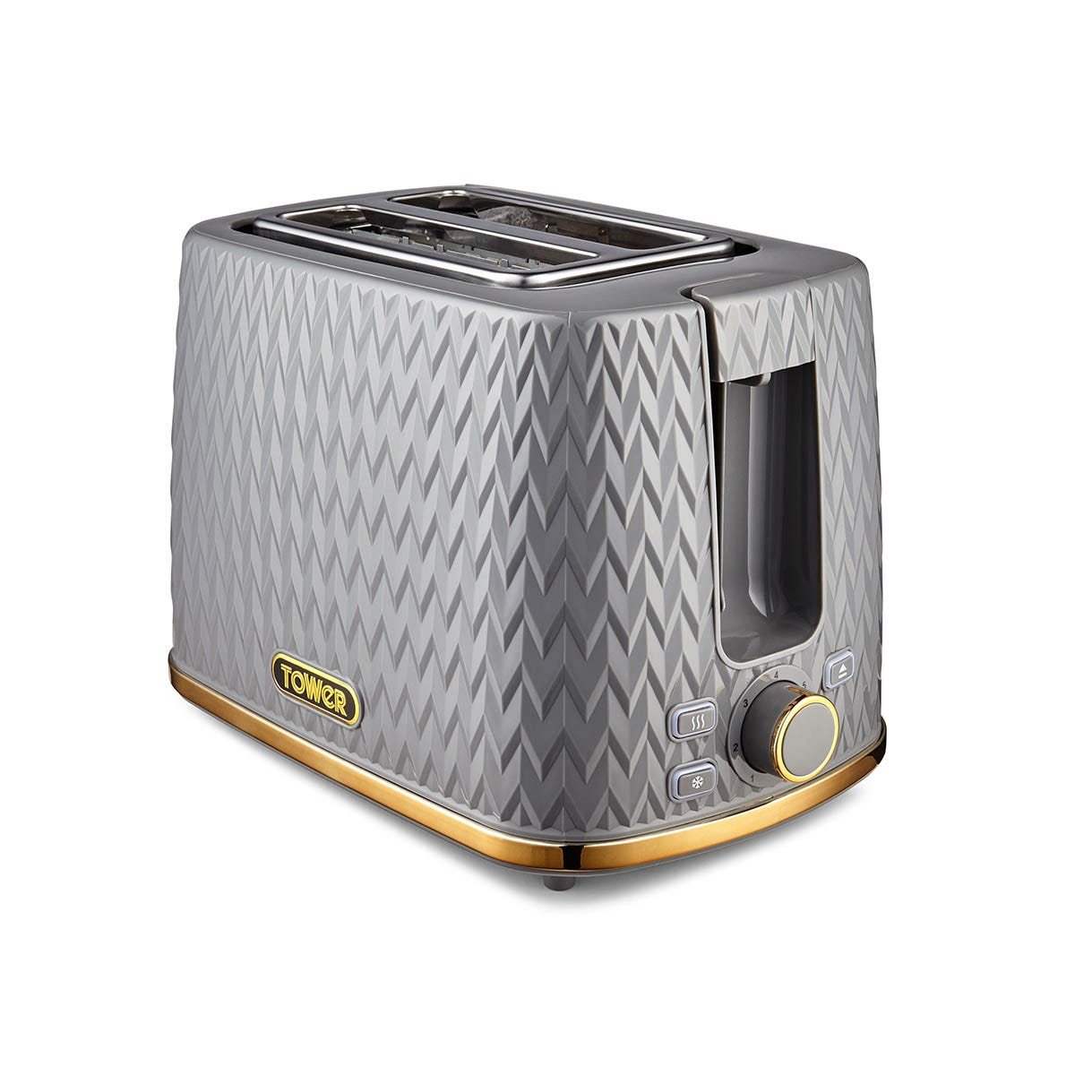 Tower T20054GRY Empire 2 Slice Toaster - Grey