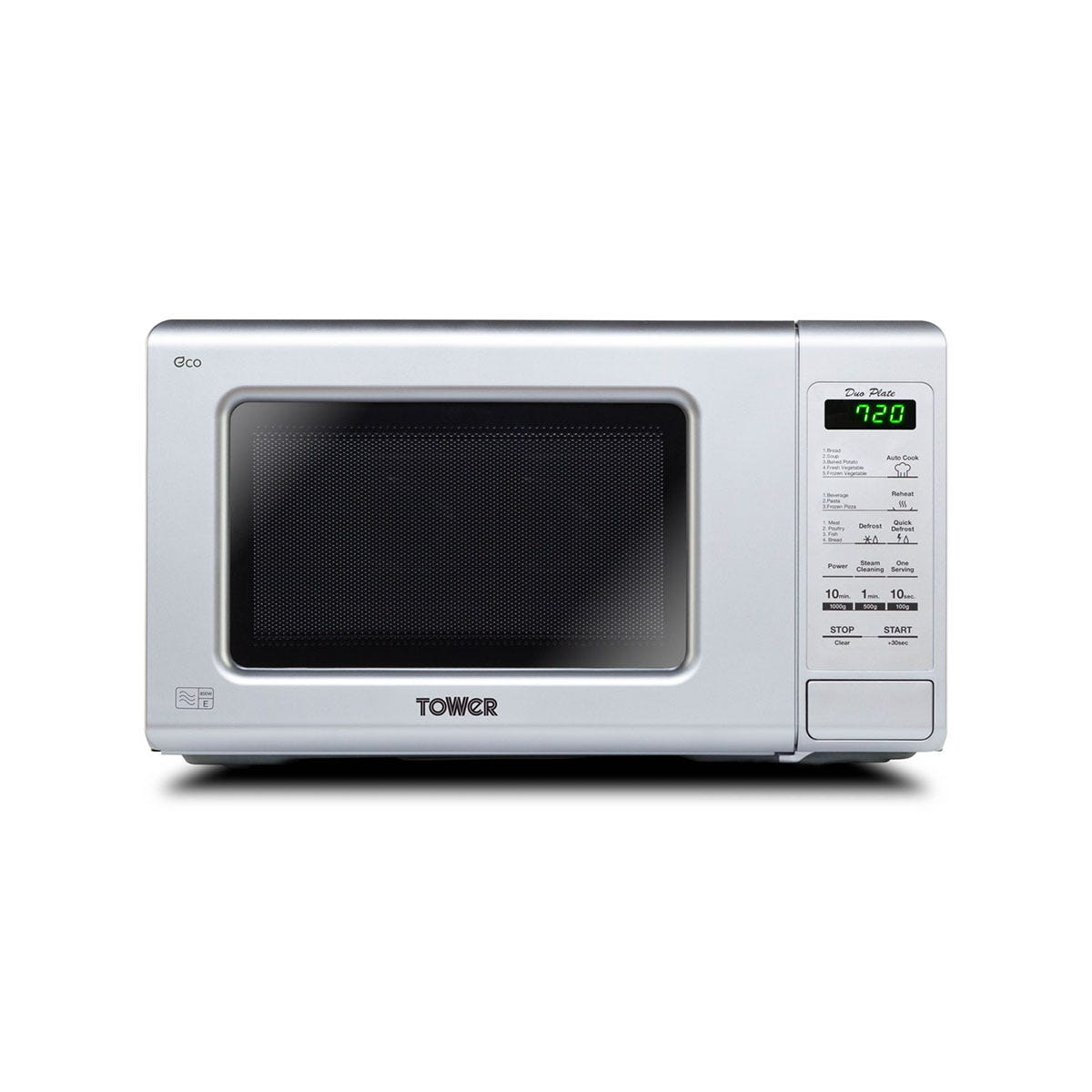 Tower KOR6M1RDSLT 800W 20L Touch Control Microwave - Silver