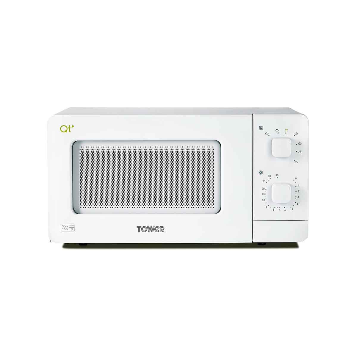 Tower QT1T 600W 14L Manual Control Microwave Oven - White