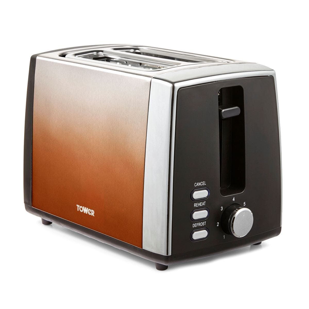 Tower T20038COP Infinity Ombre 2 Slice Toaster - Copper