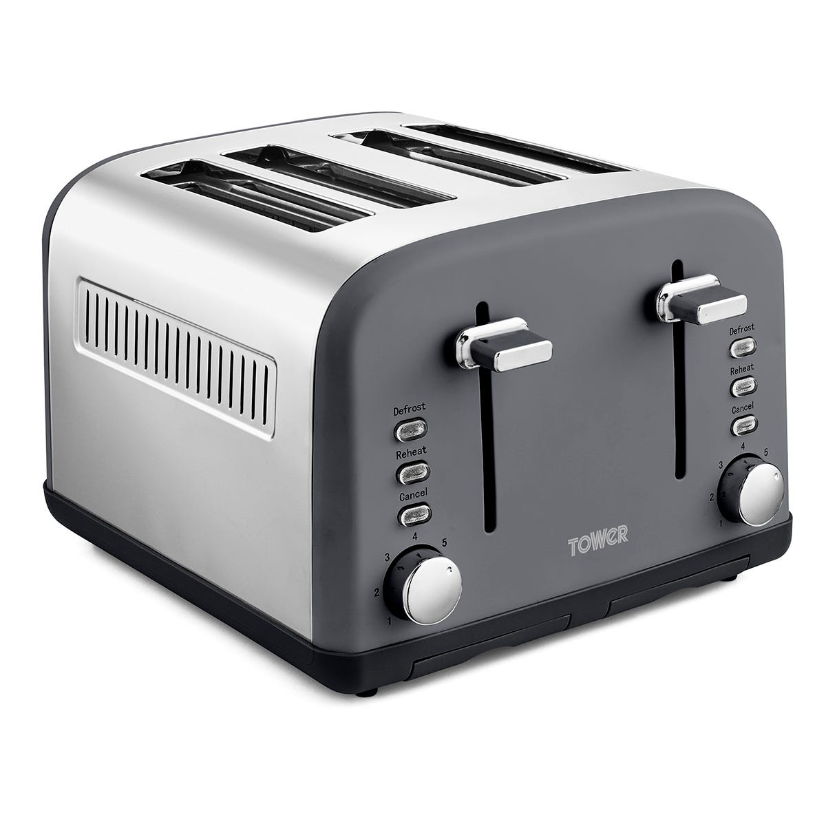 Tower T20042SLT Infinity Stone 4 Slice Toaster - Grey