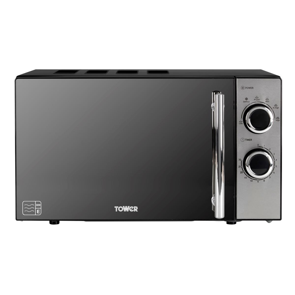 Tower T24015 800W 20L Manual Microwave - Grey