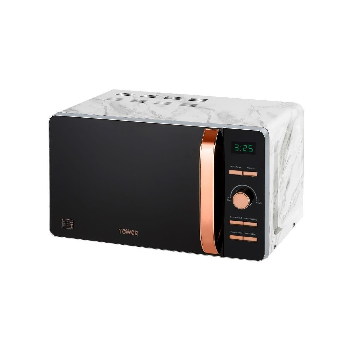 Tower T24021WMRG 800W 20L Digital Microwave - Marble/Rose Gold