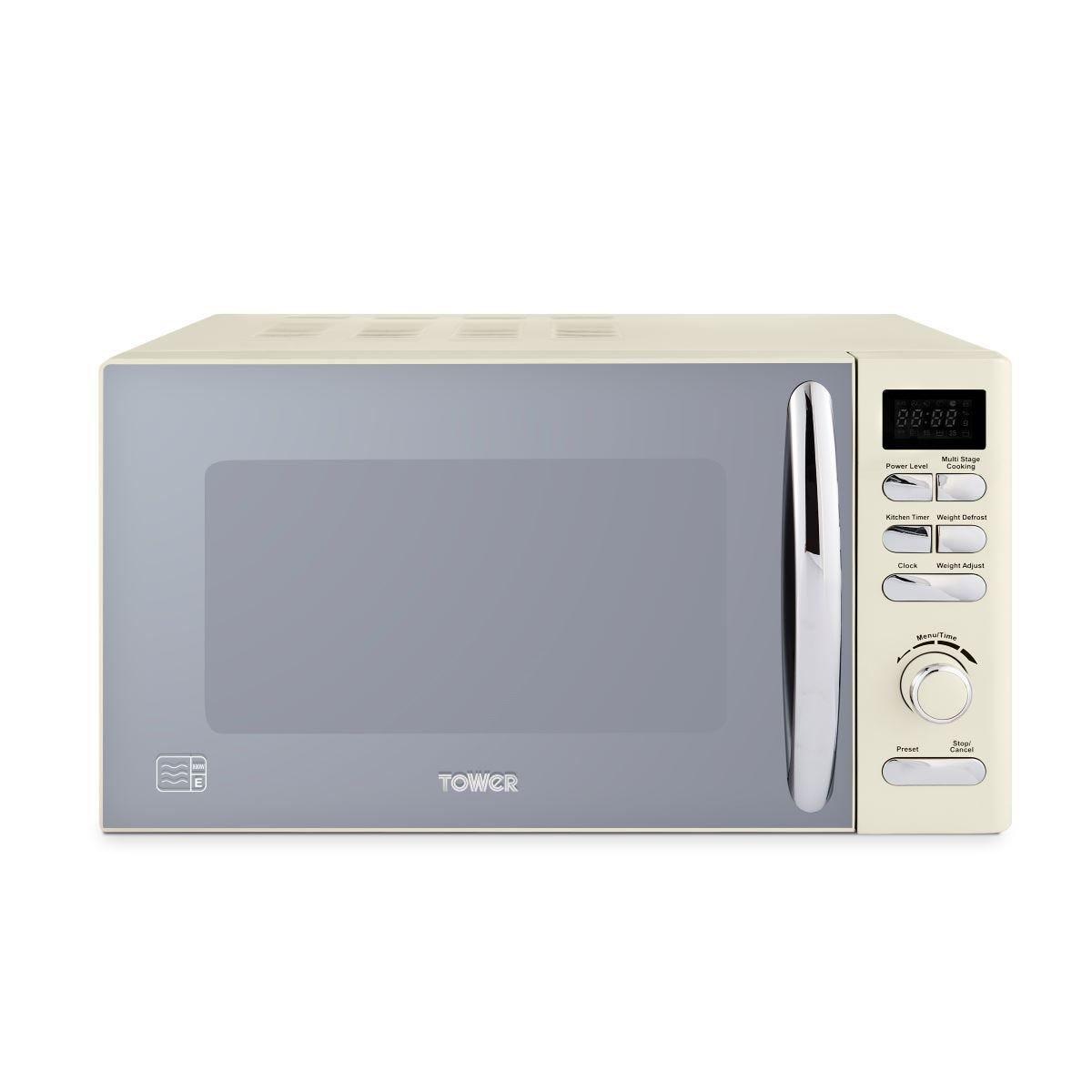 Tower T24032PEB Infinity Stone 800W 20L Digital Microwave - Cream