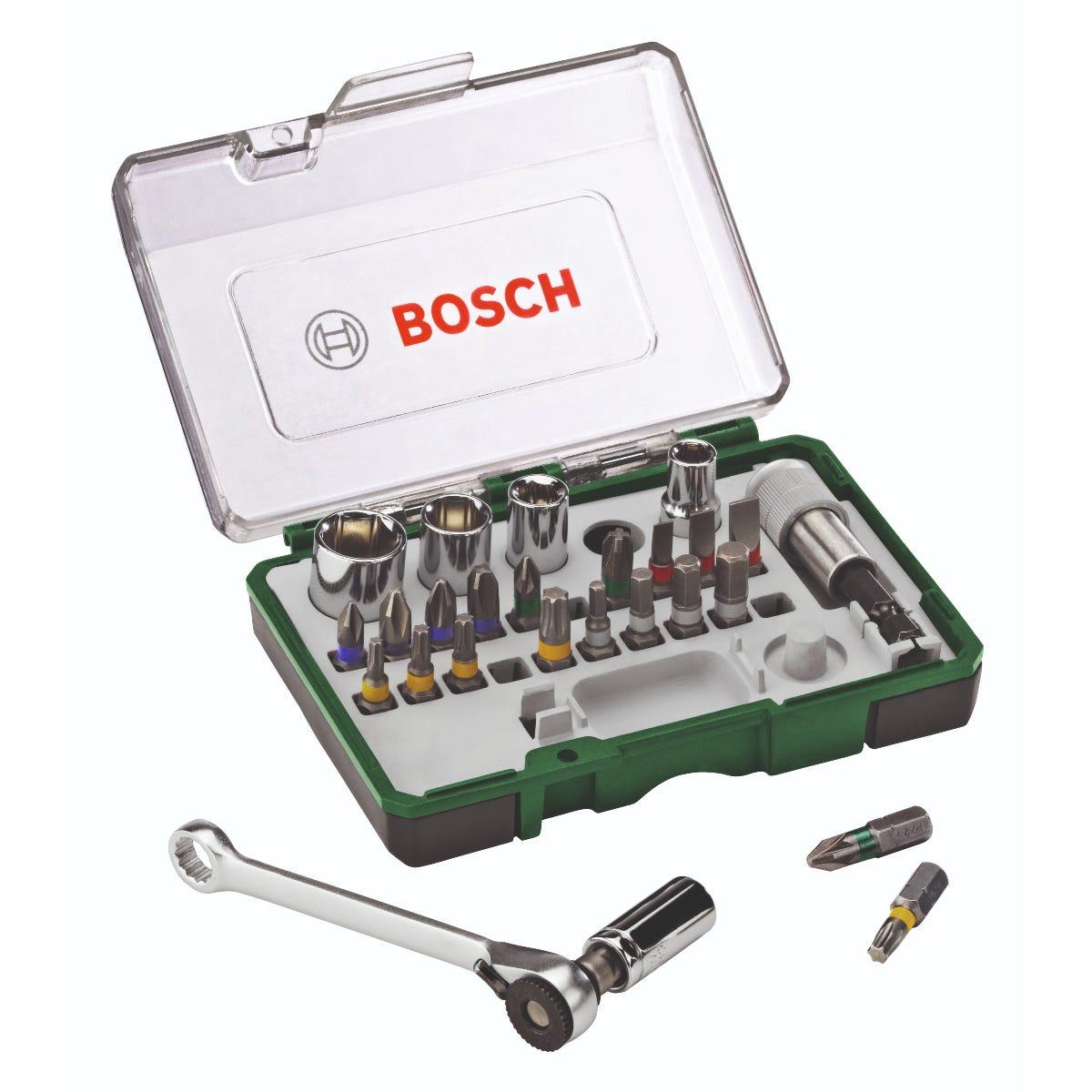 Bosch 27-piece Ratchet Screwdriver Bit and Socket Set