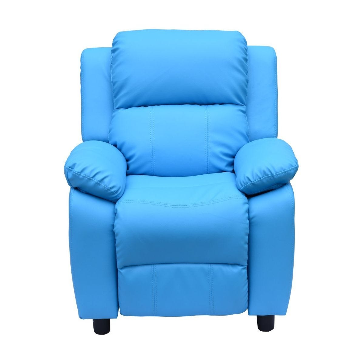 Kids Recliner Armchair Game Chair Sofa Faux Leather Blue