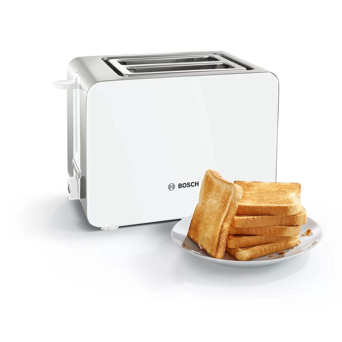 Bosch TAT7201GB Sky Toaster - White & Silver