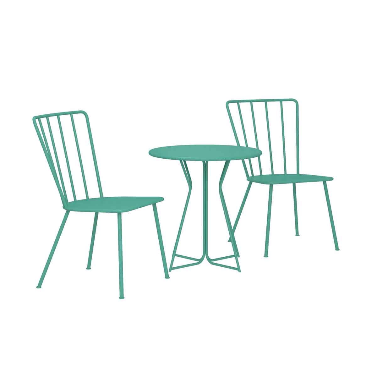 Dorel Heidi 3 Piece Bistro Set - Turquoise