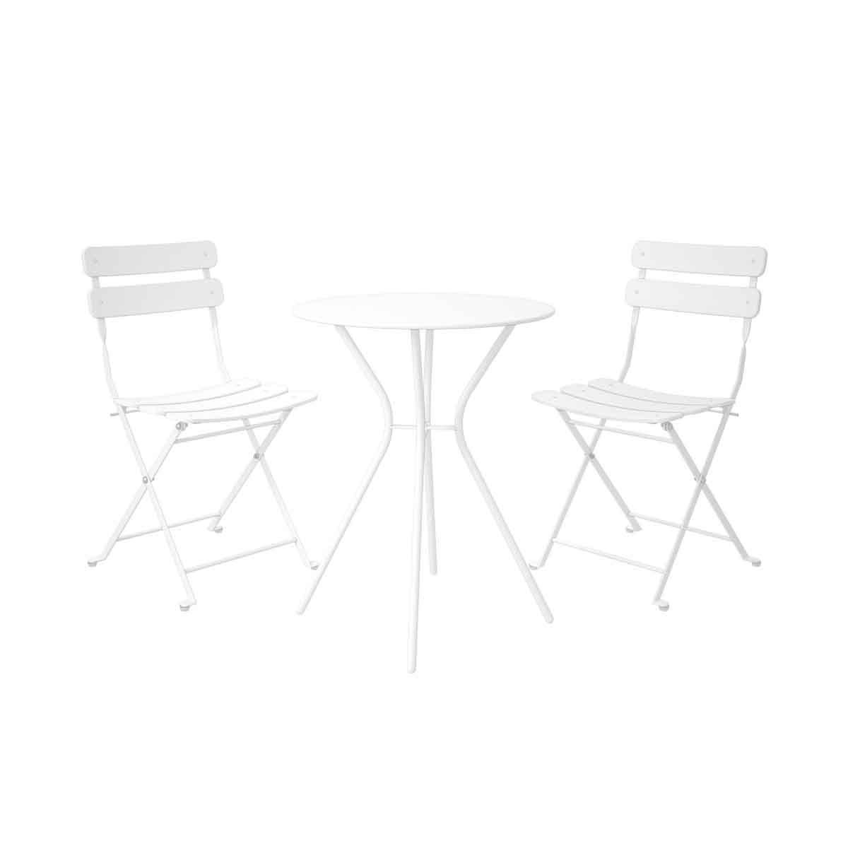 Dorel 3 Piece Metal Bistro Set - White