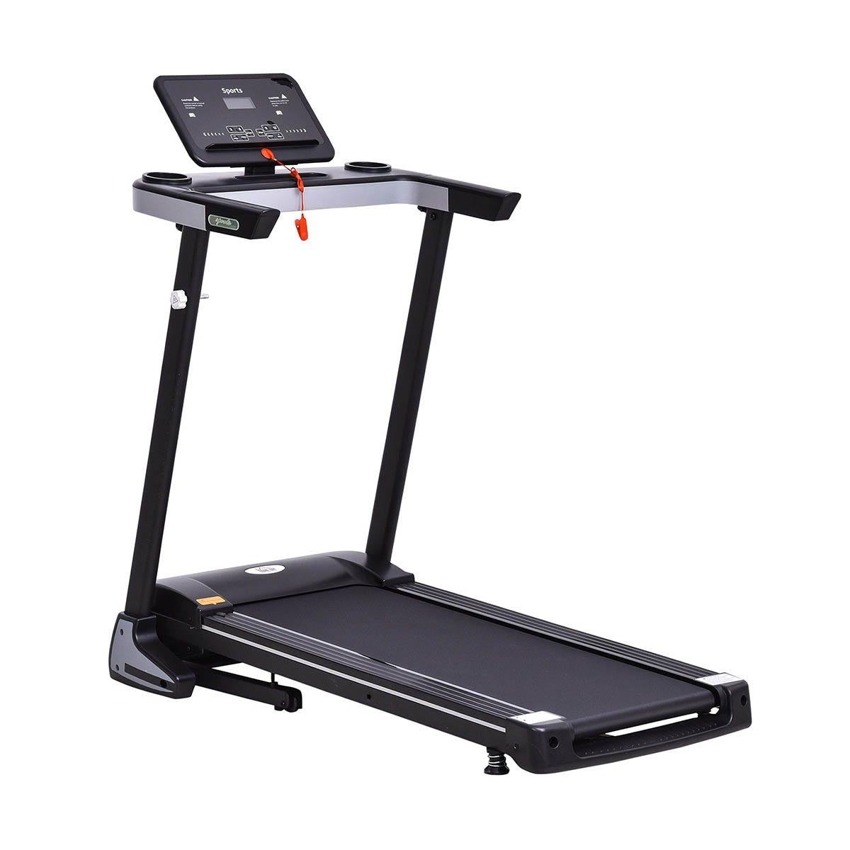 HOMCOM Treadmill Electric 1-12Km/h Motorized Power Folding Running Machine