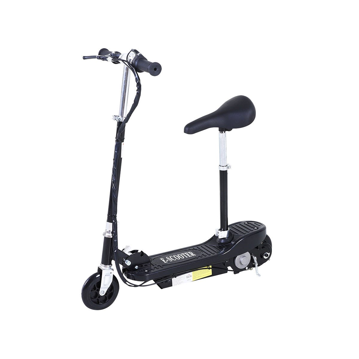 Reiten Kids Foldable E Scooter Electric 120W Toy with Brake Kickstand - Black