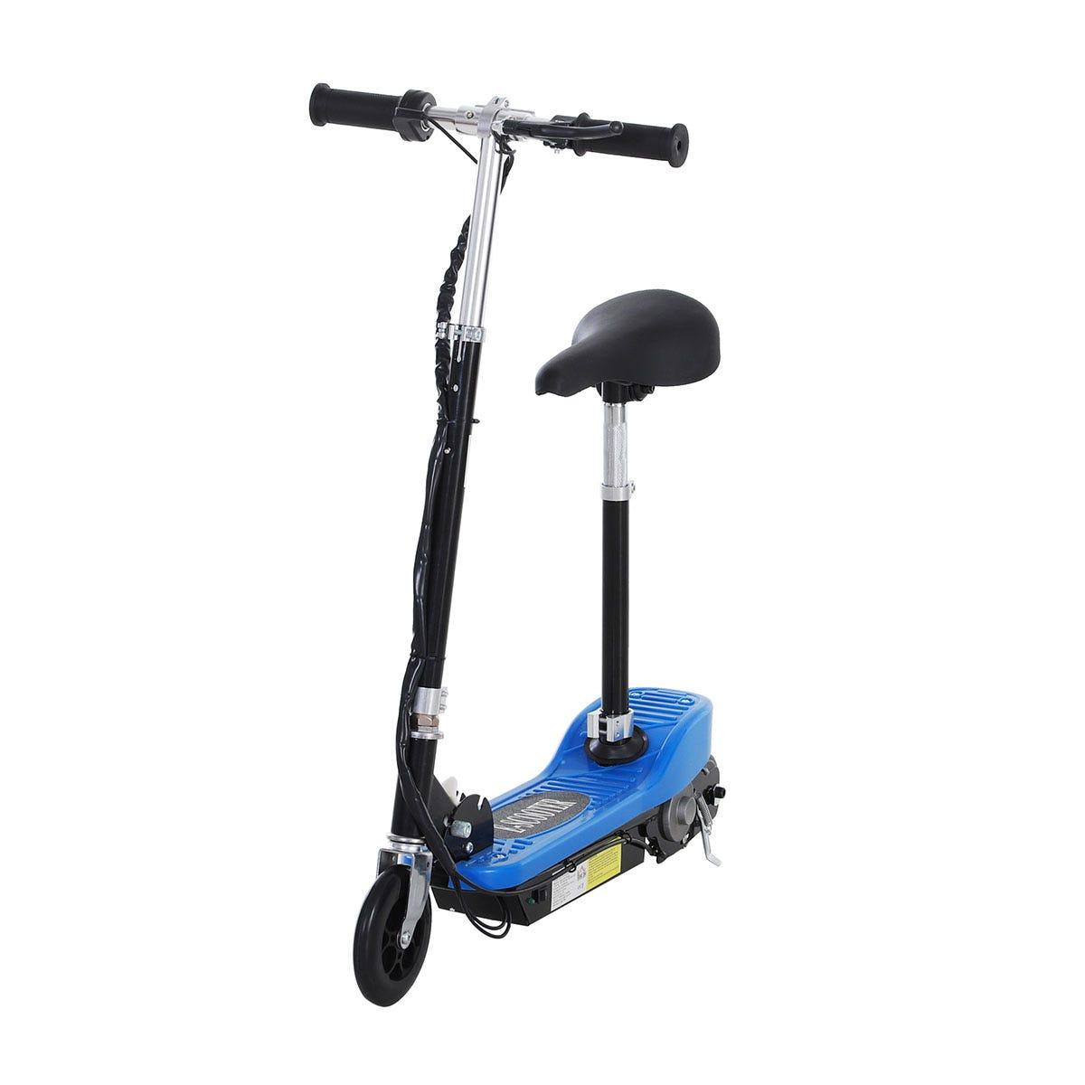 Reiten Kids Foldable E Scooter Electric 120W Toy w/ Brake Kickstand - Blue
