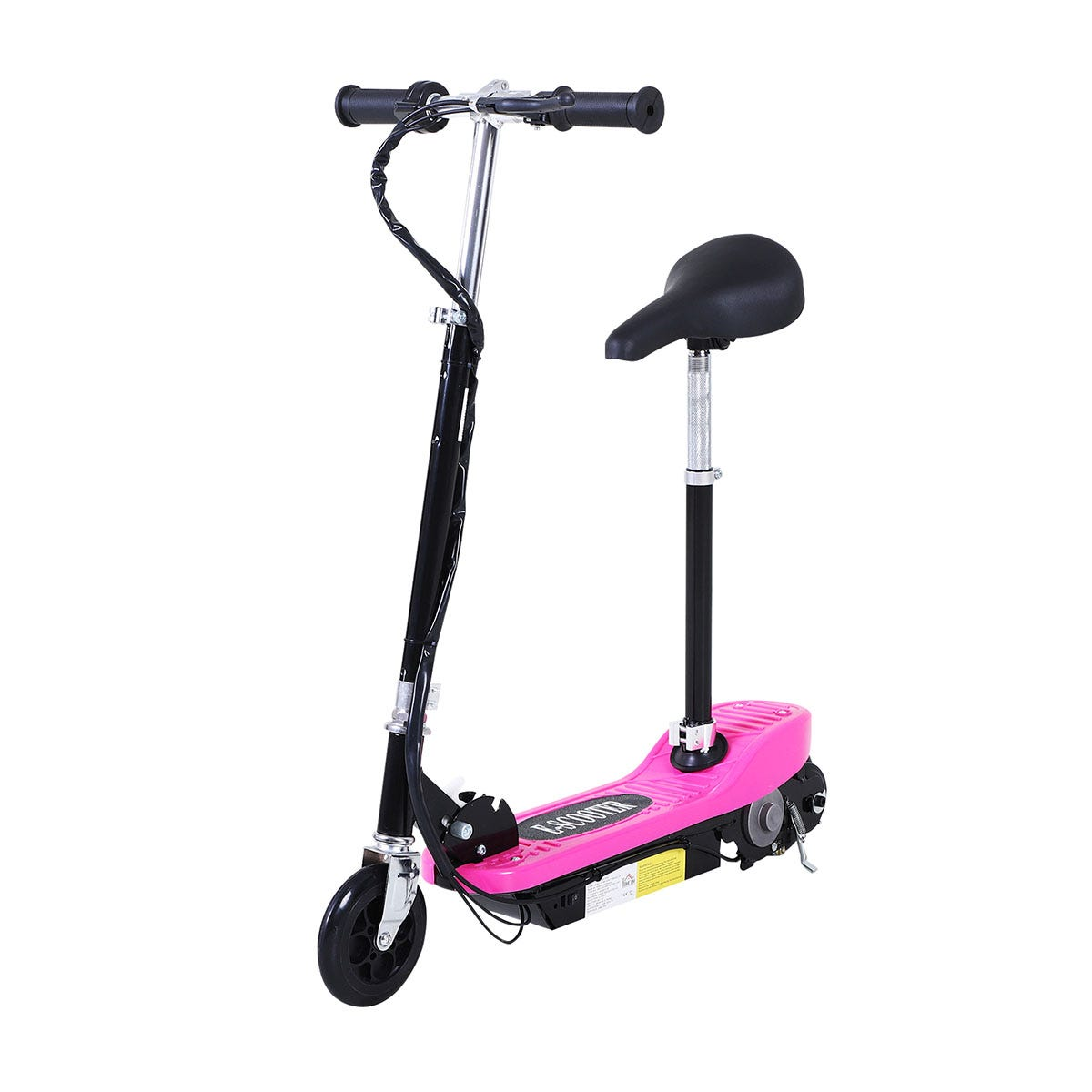 Reiten Kids Foldable E Scooter Electric 120W Toy with Brake Kickstand - Pink