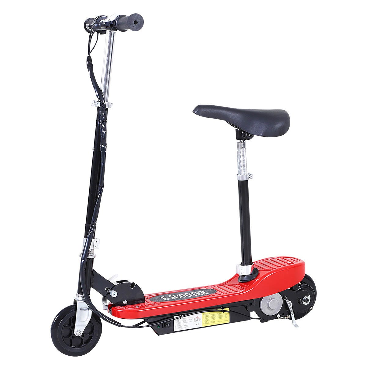 Reiten Kids Foldable E Scooter Electric 120W Toy with Brake Kickstand - Red