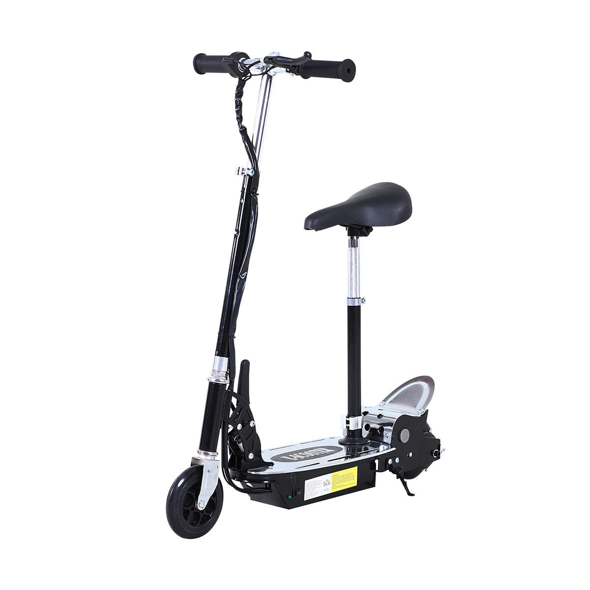 Reiten Teen Foldable E-Scooter Electric Battery 12V 120W with Brake Kickstand - Black
