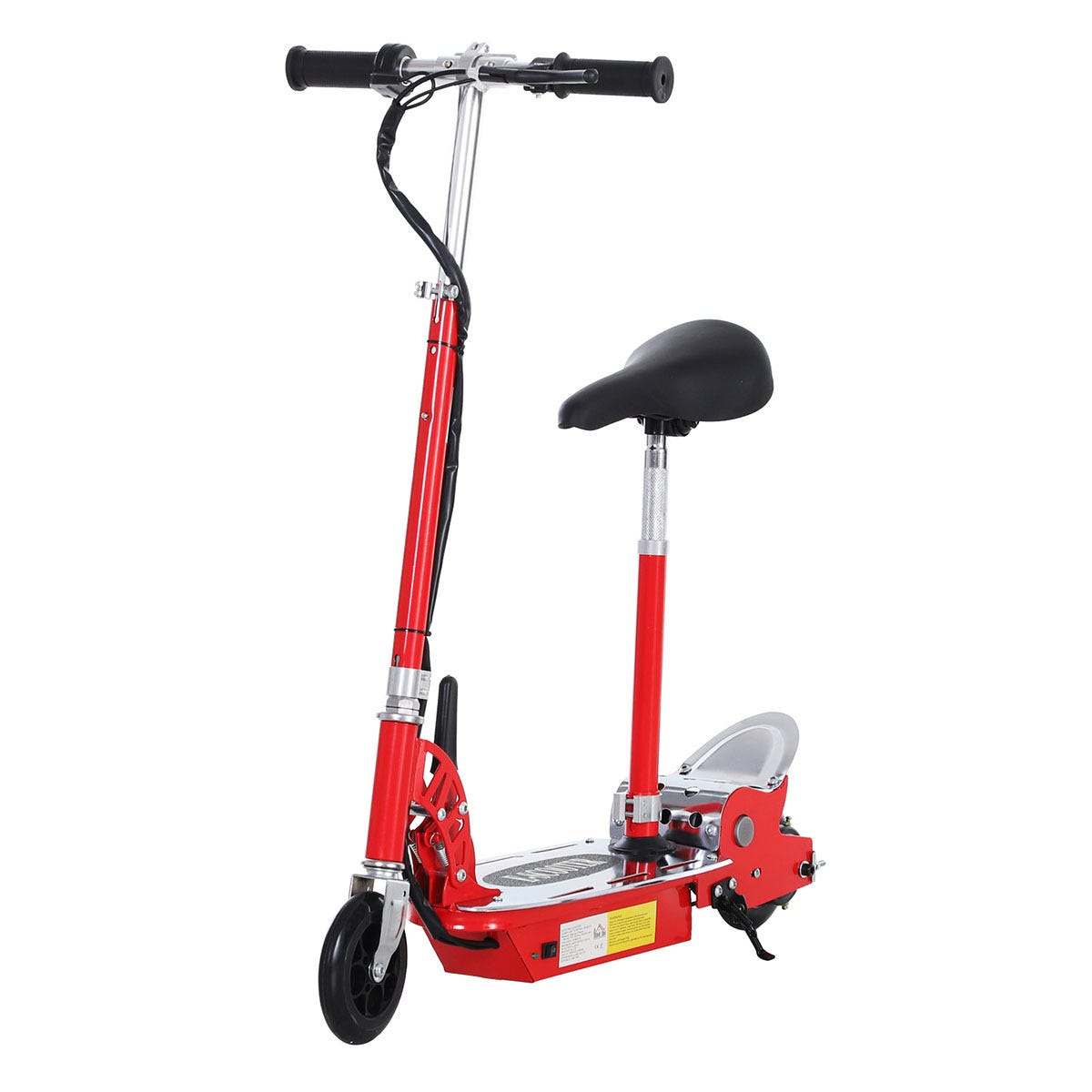 Reiten Teen Foldable E-Scooter Electric Battery 12V 120W with Brake Kickstand - Red