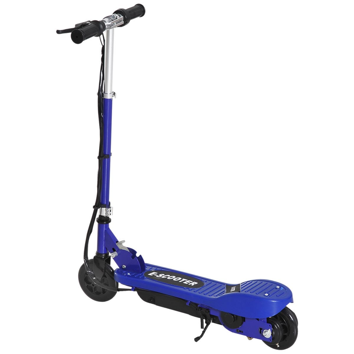 Reiten Folding Kids Electric Scooter 7-14 Adjustable Battery Power PU Wheels - Blue