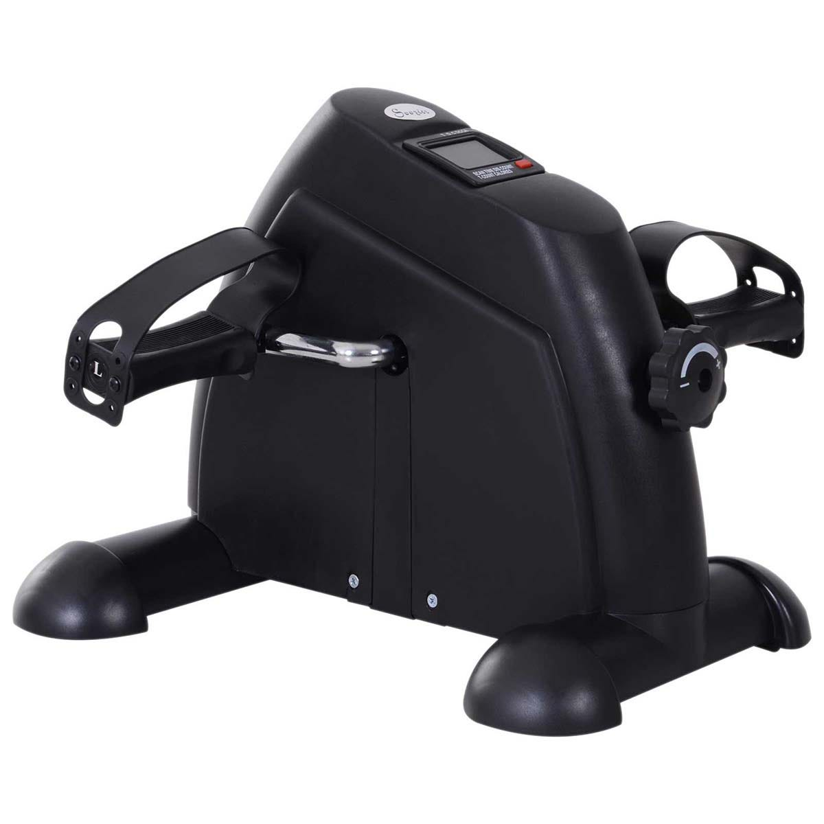 HOMCOM Mini Exercise Bike Portable Pedal Manual Machine Indoor Fitness Black