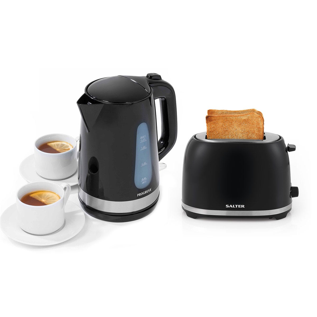 Salter COMBO-2088 Deco Collection Kitchen 1.7 L Kettle and Two Slice Toaster with Browning Control