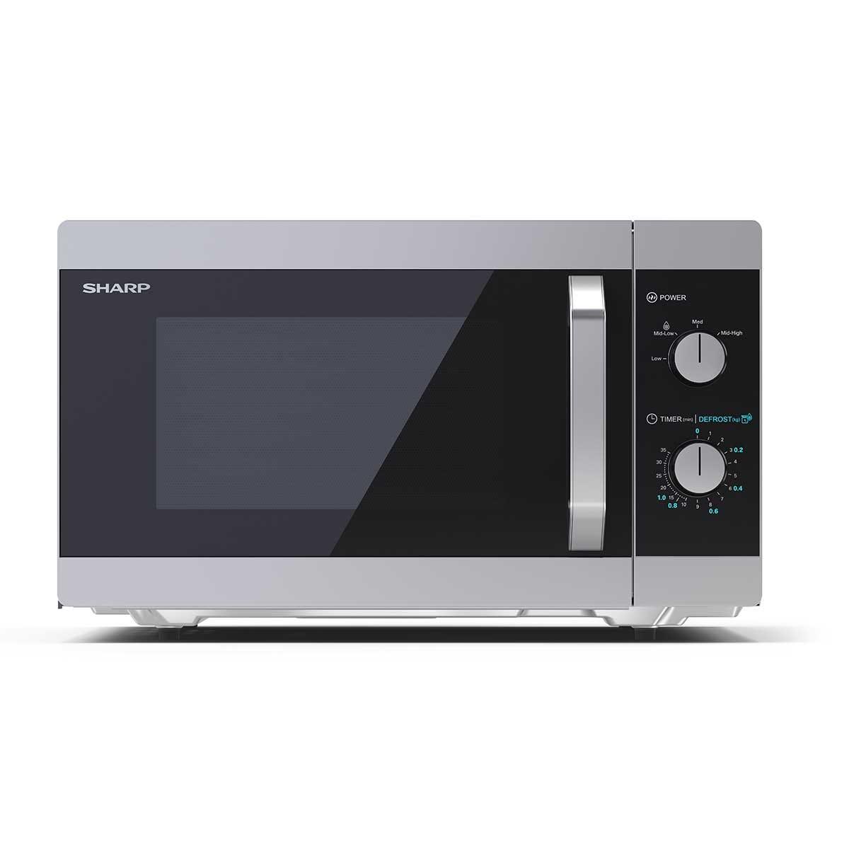 Sharp YC-MS31U-S 23L 900W Solo Microwave - Silver