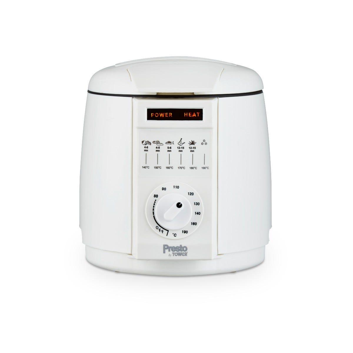 Tower PT1704WHT Presto 1L Deep Fat Fryer - White