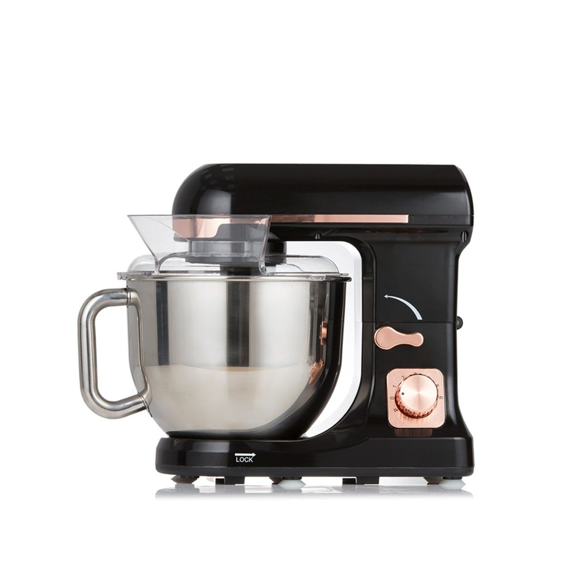 Tower T12033RG 1000W 5L Stand Mixer - Black and Rose Gold