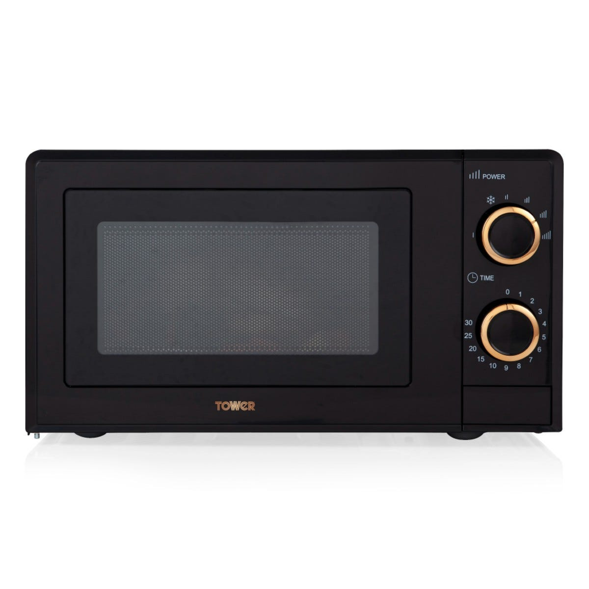 Tower T24029RG 700W 17L Manual Microwave - Black and Rose Gold