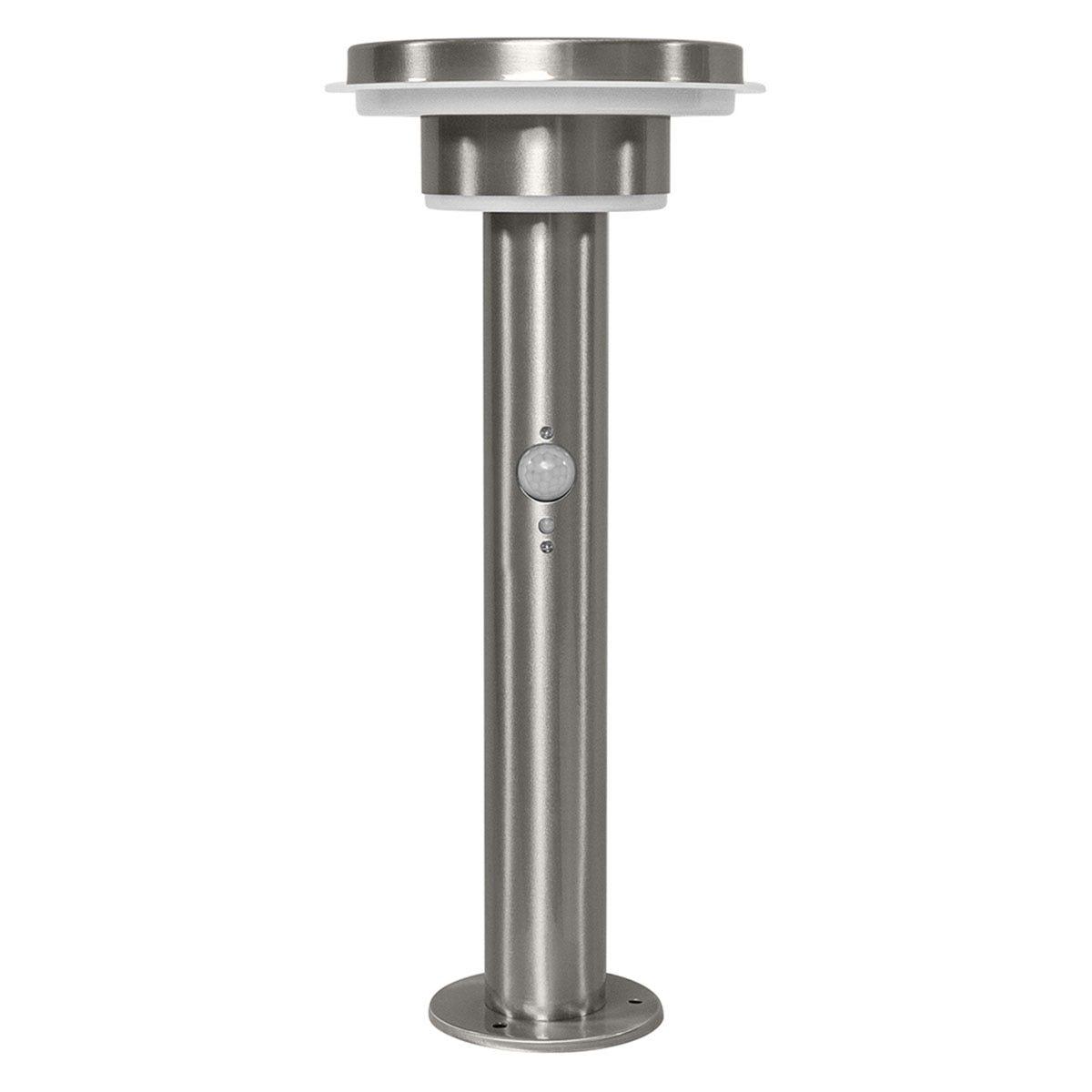 Ledvance Endura Solar Style Circle Garden Light with Sensor - Stainless Steel