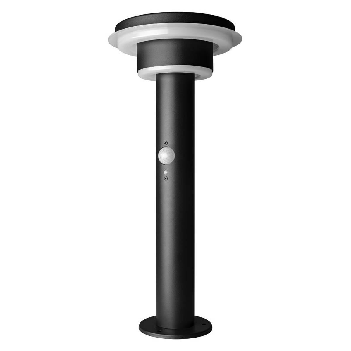 Ledvance Endura Solar Style Circle Garden Light with Sensor - Black