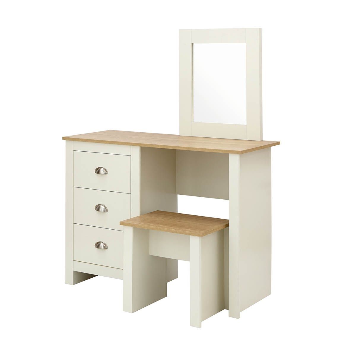 Lancaster Dressing Table And Stool Set Cream