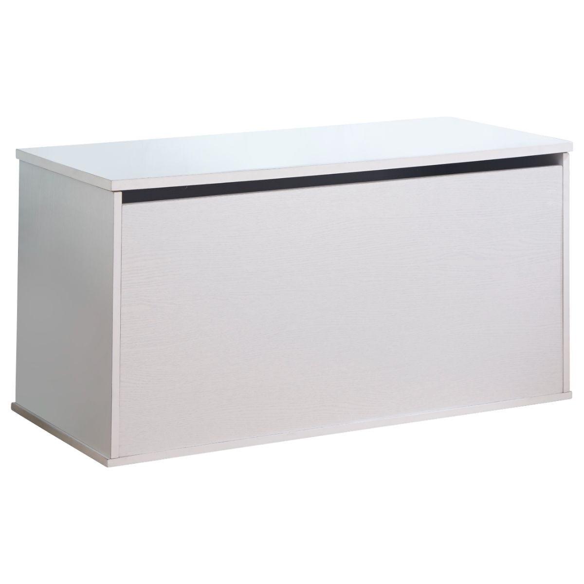 Panama Ottoman Storage Box White