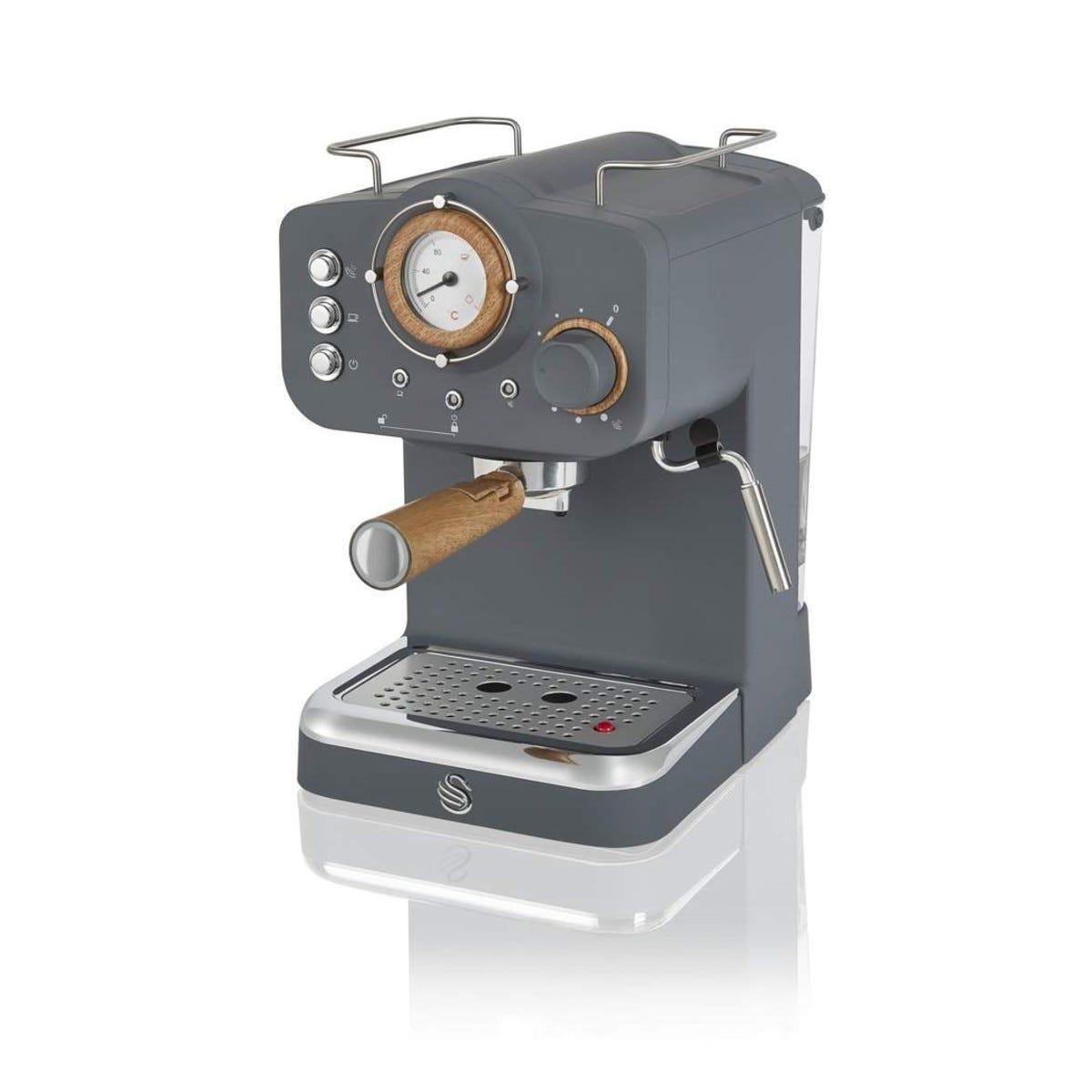 Swan SK22110GRYN Nordic Pump Espresso Coffee Machine - Grey