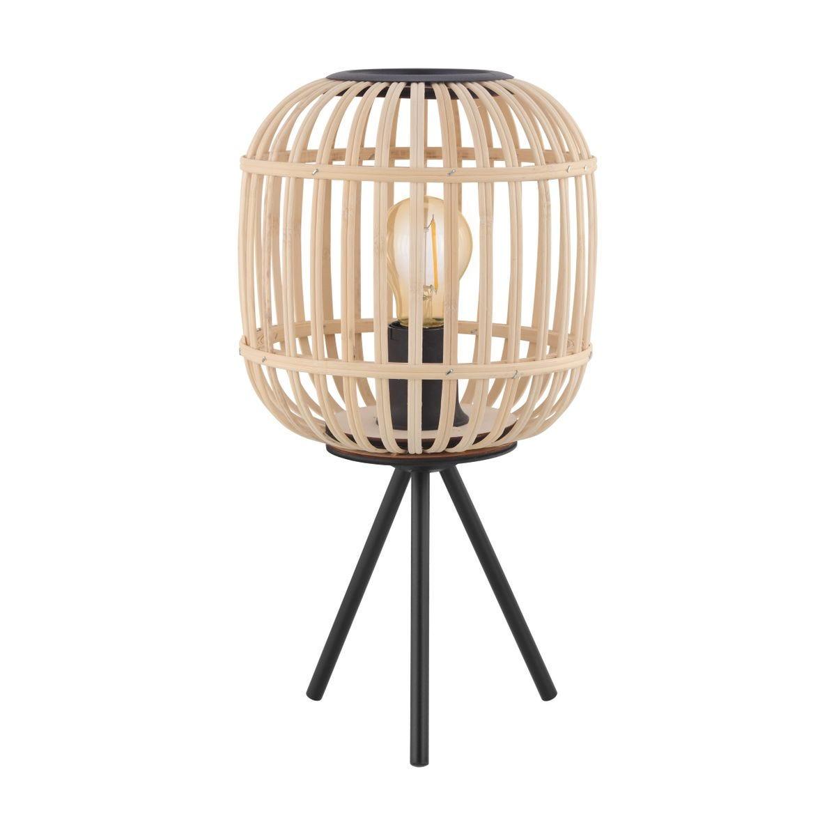Eglo Rattan Tripod Table Lamp