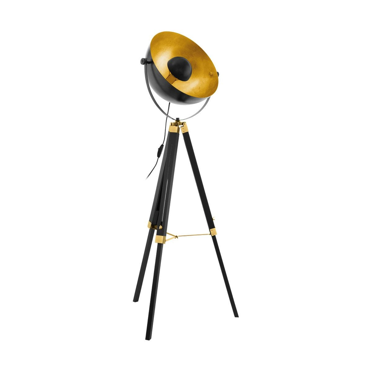 Eglo Retro Tripod Black And Gold Floor Lamp