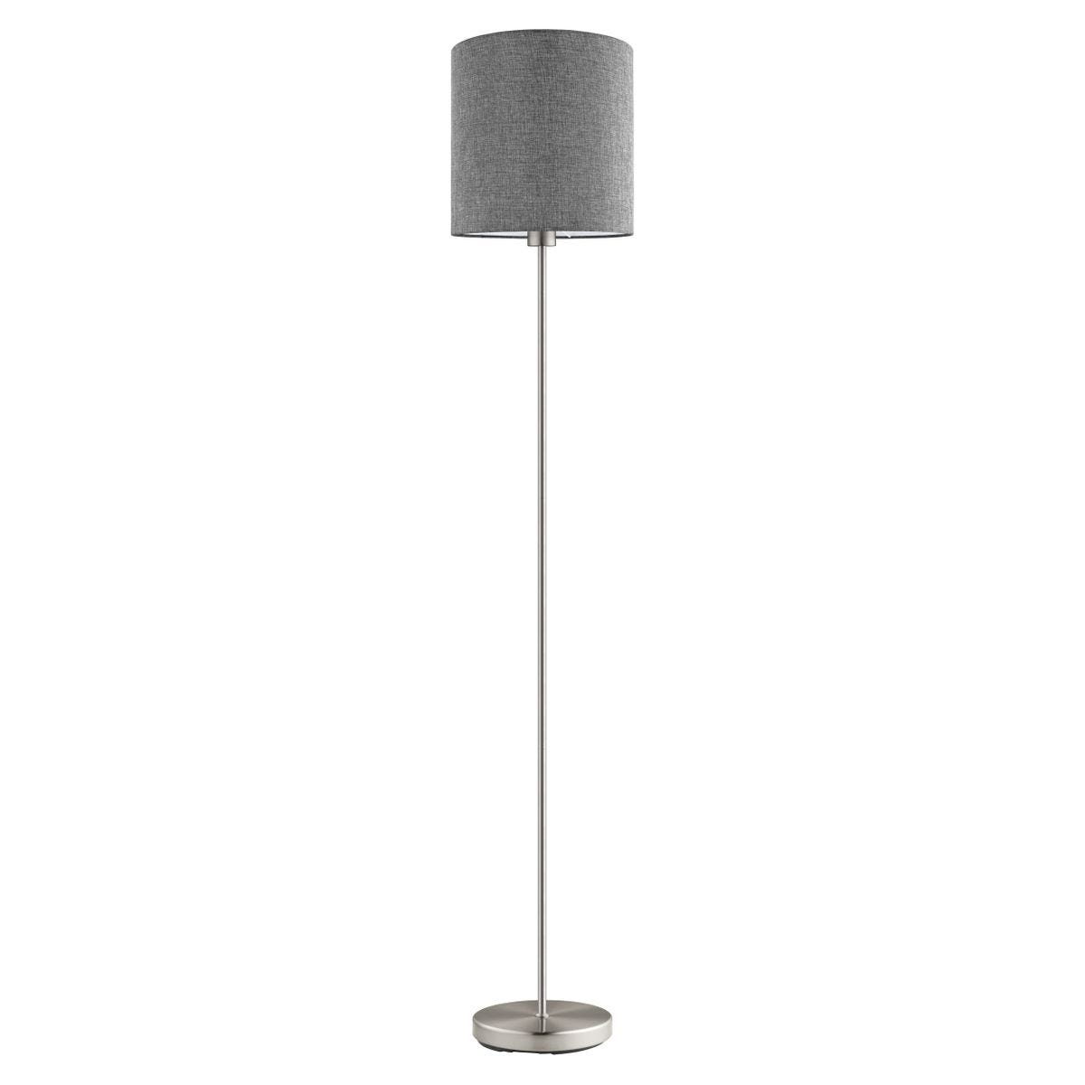 Eglo Pasteri Grey Linen Floor Lamp