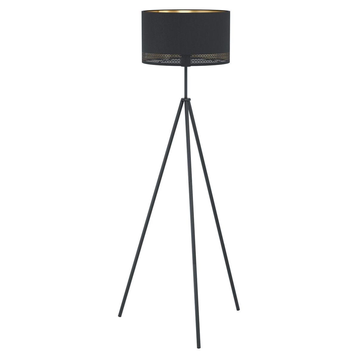Eglo Esteperra Tripod Black and Gold Floor Lamp