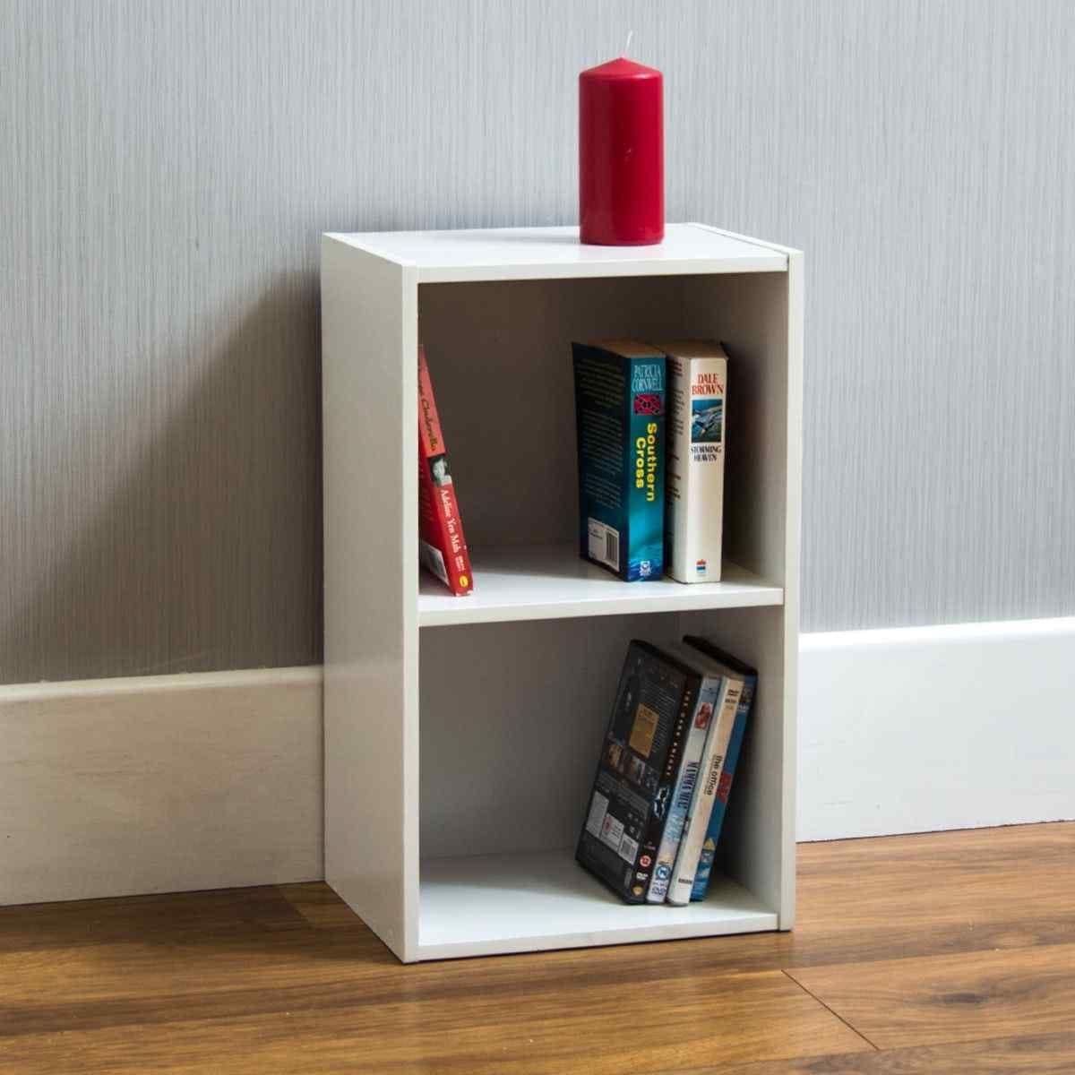 Oxford 2 Tier Cube Bookcase White